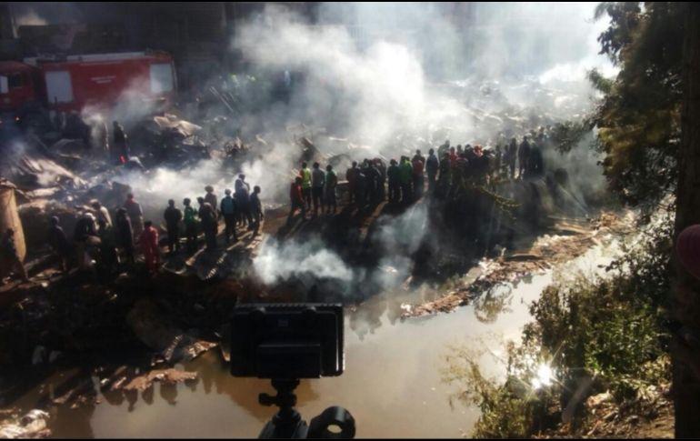 Al menos 15 muertos en incendio en mercado de Nairobi