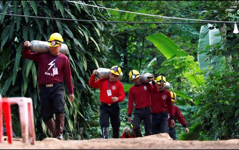 Inició el rescate de los 12 niños y su entrenador en Tailandia