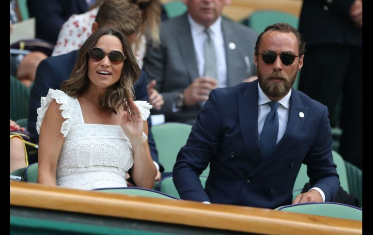 Pippa Matthews y James Middleton, los hermanos de Catalina, duquesa de Cambridge. AFP/ARCHIVO