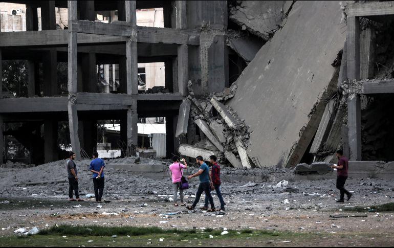 Grupos palestinos aceptan tregua tras ataques de Israel contra Gaza