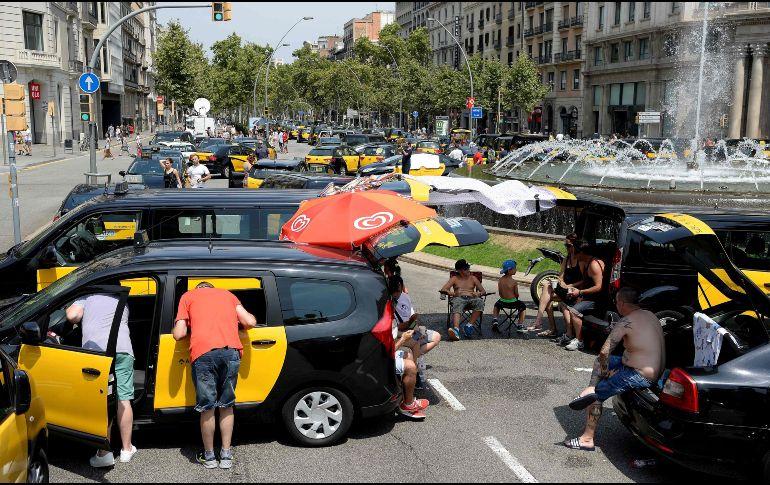 huelga de taxis barcelona 2019
