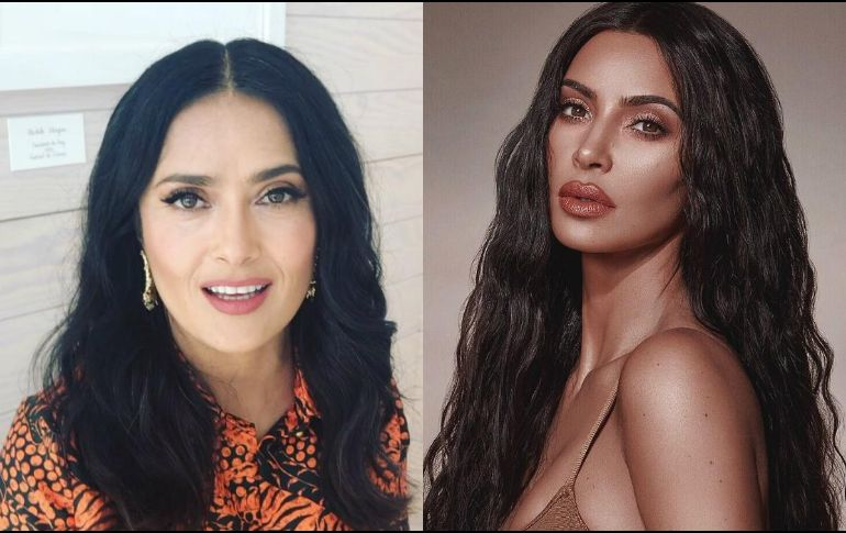 Kim Kardashian copió el look de Salma Hayek
