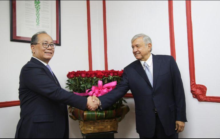 AMLO conversará con embajador de China sobre comercio y cultura