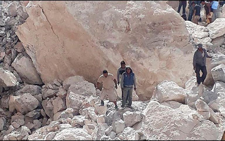 Derrumbe en mina, reportan cinco fallecidos