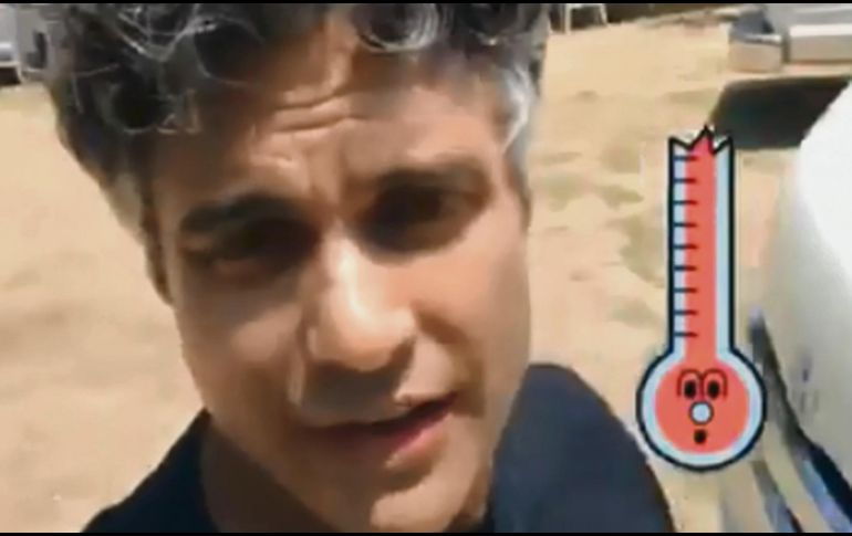 Jaime Camil. El actor durante la filmación en Vallarta. TWITTER