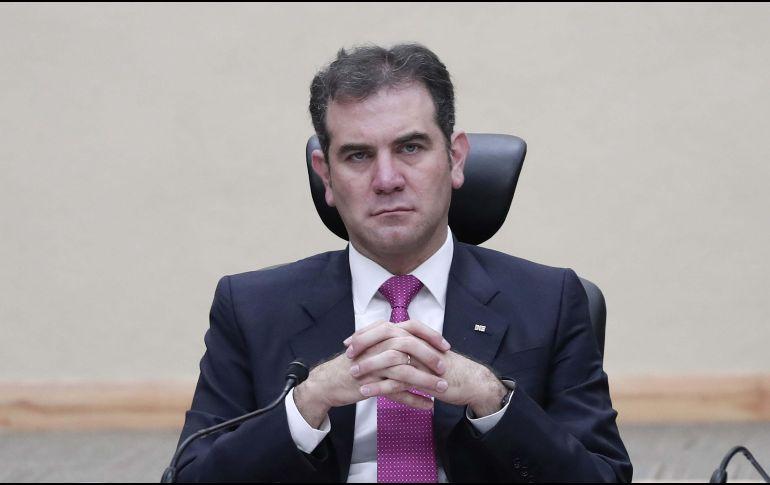 Lorenzo Córdova explicó que deben esperar a que terminen todas las impugnaciones que están en curso ante las salas del Tribunal Electoral. SUN / ARCHIVO