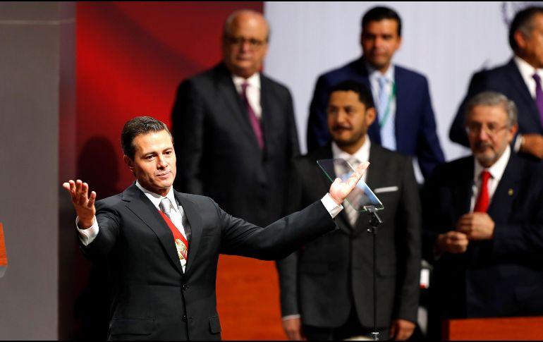 """En su último informde de Gobierno, Peña Nieto mencionó que las """"reformas estructurales"""" aprobadas al inicio de su gestión fueron su """"logro más trascendental"""". EFE/J. Núñez"""