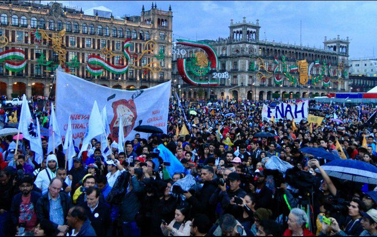 En completo silencio, los participantes marcharon por Paseo de la Reforma hacia el Zócalo capitalino. NTX/J. Lira
