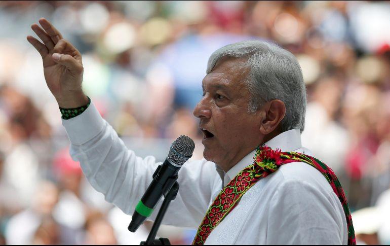 López Obrador participó en un mitin ante unas cinco mil personas. AP / E. Verdugo