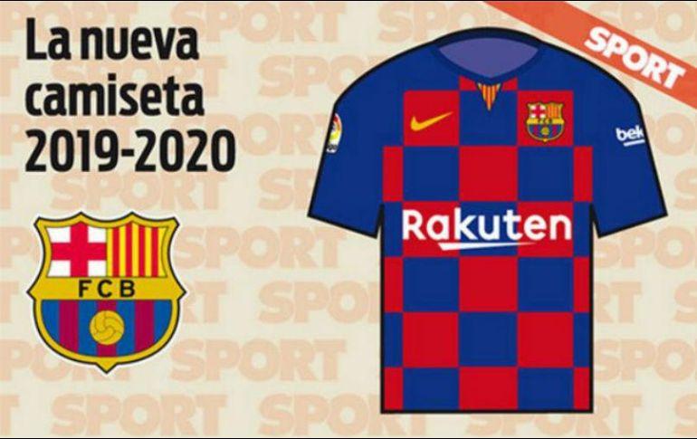 4c8d0cc62114a Camiseta del Barcelona para la próxima temporada sería a cuadros ...