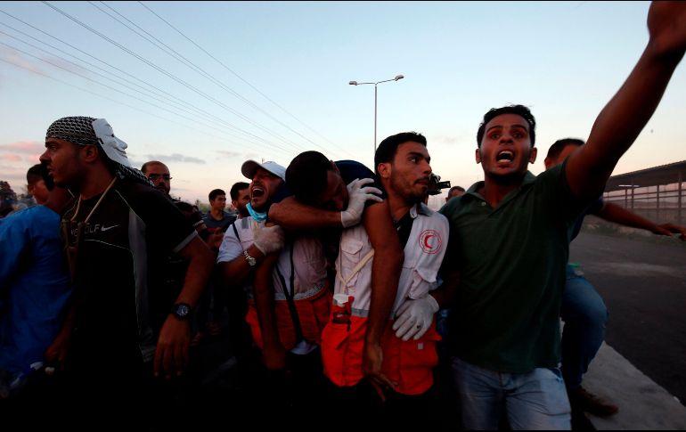 Reportan 300 heridos en protestas palestinas