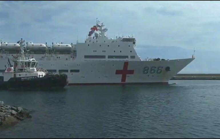 Arriba a Venezuela buque hospital chino