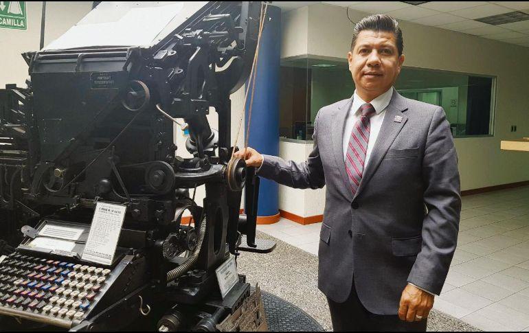 Benjamín Ruiz Álvarez, presidente de la delegación Jalisco de la Cámara Nacional de la Industria de Artes Gráficas. EL INFORMADOR/T. Villaseñor