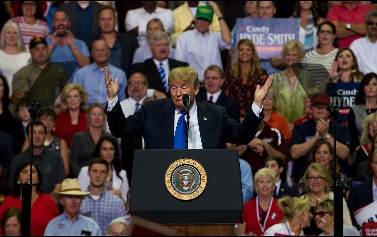 Trump se mofa de la presunta víctima de Kavanaugh