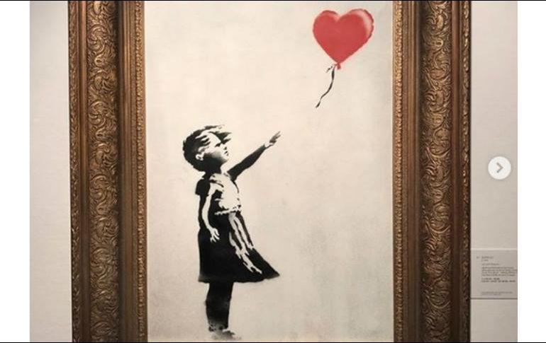 El artista Banksy revela cómo autodestruyó su obra en plena subasta