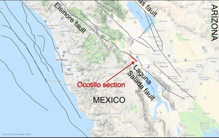 Descubre la NASA falla tectonica que conecta a México con EU