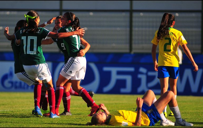 Tri Femenil Sub 17 se impone ante Brasil en Mundial de Uruguay