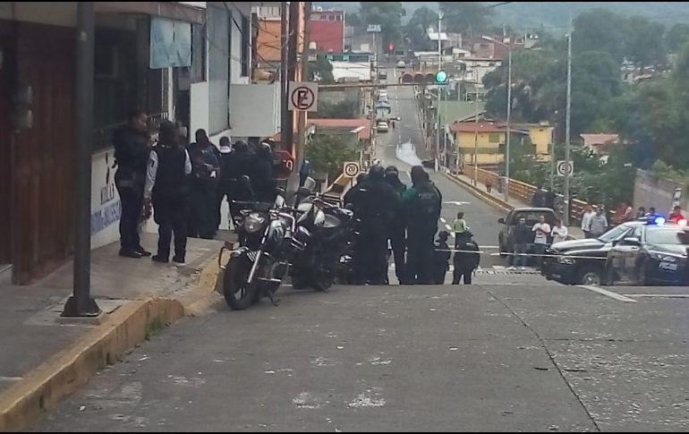 Instituciones de seguridad implementaron patrullajes en distintos sectores de la ciudad para intentar localizar a los agresores. TWITTER
