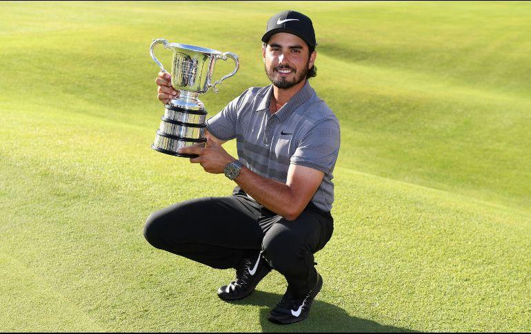 El golfista mexicano Abraham Ancer conquistó el Abierto de Australia