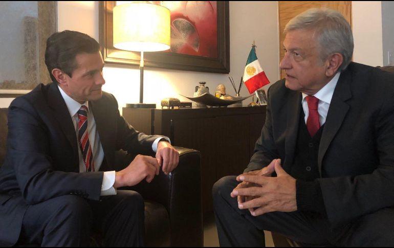 López Obrador informó que, durante el encuentro, se definieron detalles sobre la ceremonia del 1 de diciembre. TWITTER/@lopezobrador_