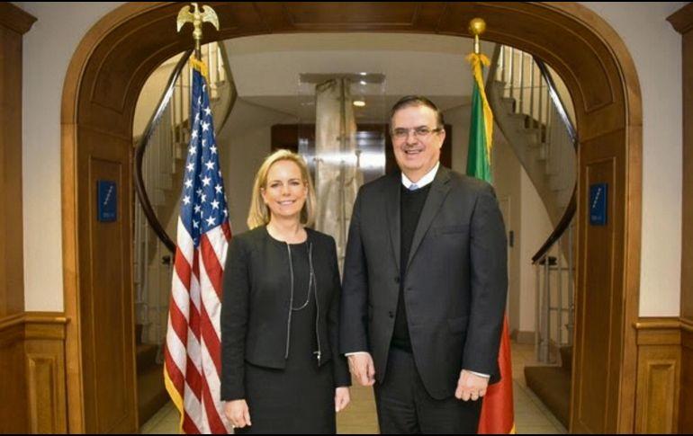 Reunión entre Ebrard y Nielsen acerca a un acuerdo migratorio
