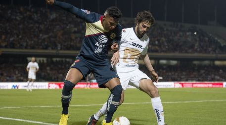 _PART_LMX_SEM_IDA_PUM_AME_ - Foto del partido Pumas vs America correspondiente a la semifinal de ida del torneo Apertura 2018 de la Liga BBVA Bancomer MX celebrado en el estadio de Ciudad Universitaria.EN LA FOTO:Photo of the Pumas vs America match corresponding to the first leg semifinal of the Apertura 2018 match of Liga BBVA Bancomer MX held at the Ciudad Universitaria stadium.IN THE PHOTO: