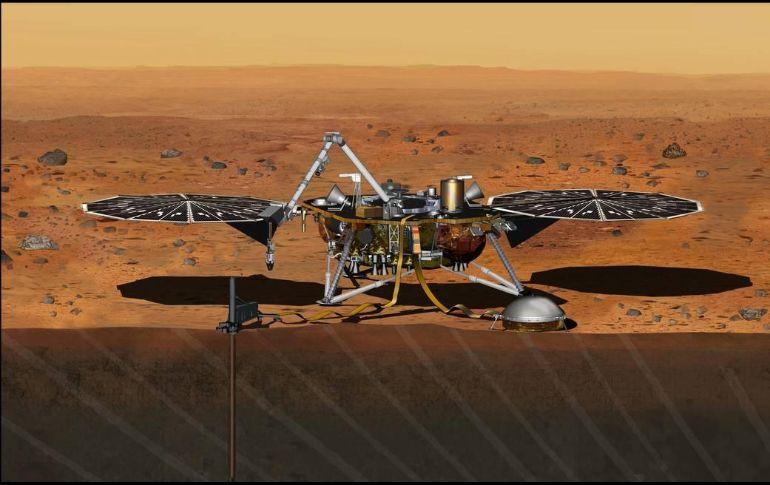 Robot InSight toma nuevas imágenes de Marte