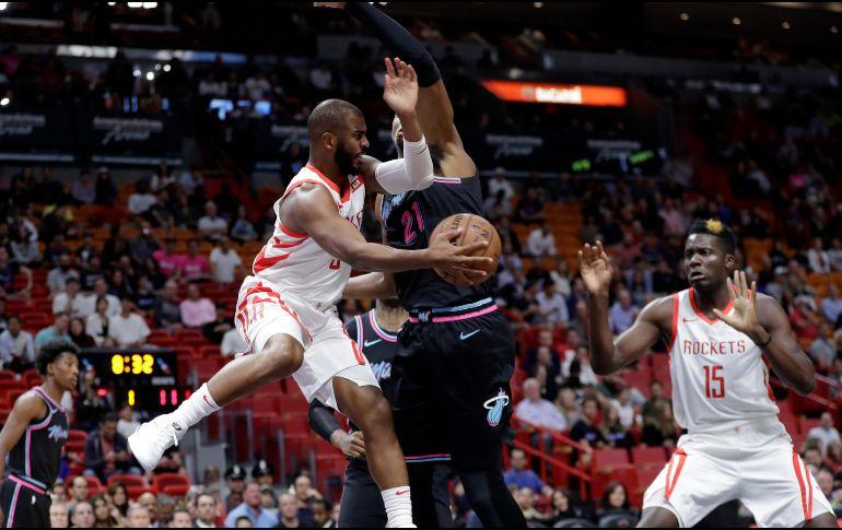 Miami Heat frenó la racha de victorias de Houston Rockets