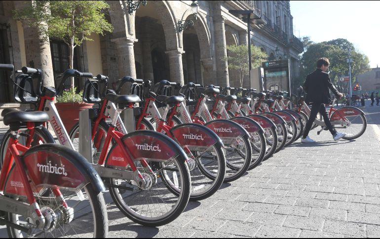 En los primeros 10 días del año se realizaron 108 mil 803 viajes en las bicicletas públicas. En comparación, en el mismo lapso del año pasado se hicieron 68 mil 408. EL INFORMADOR/Archivo
