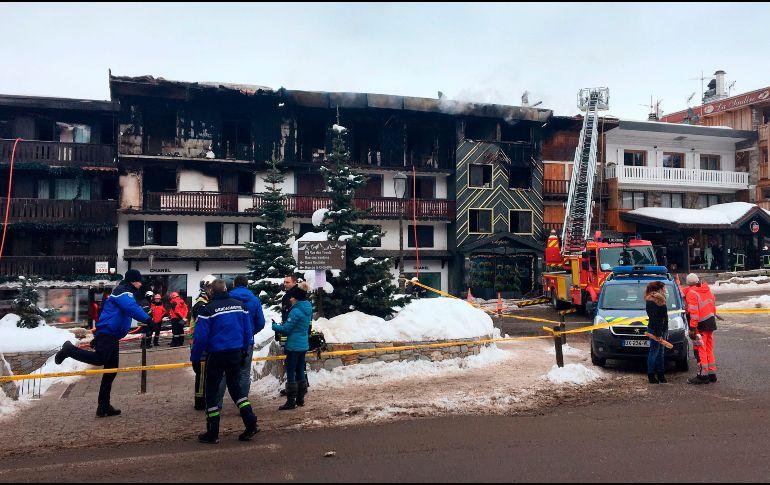 Un incendio en Courchevel deja al menos dos muertos