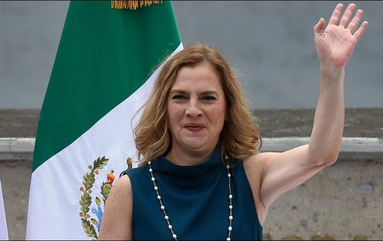 Hasta el momento, Gutiérrez Müller no ha realizado comentarios sobre el error. AFP / ARCHIVO