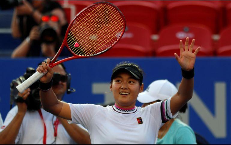 Yafan Wang, de China, se corona en el Abierto Mexicano de Tenis
