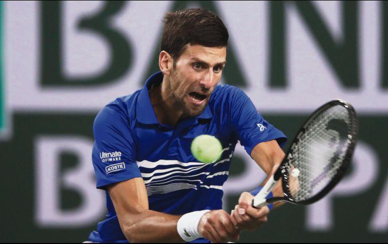 Suspenden el partido de Novak Djokovic por la lluvia
