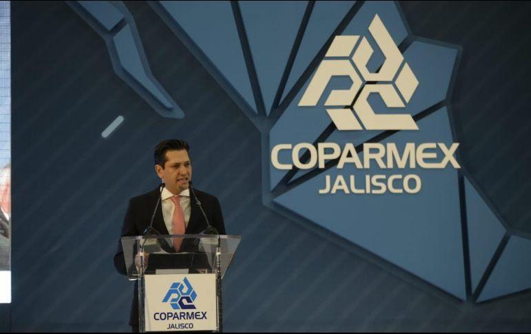 Garza Marín hizo un llamado a trabajar en cooperación gobierno, sociedad civil, academia e iniciativa privada para construir un país más competitivo. EL INFORMADOR / F. Atilano