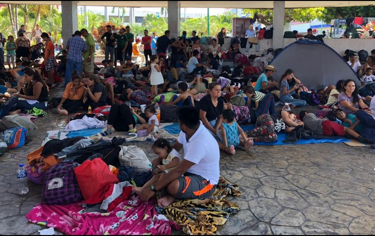 Centroamericanos en Tapachula, Chiapas, aguardan a que les otorguen una visa humanitaria para continuar su marcha rumbo a EU. NTX/A. Espinoza