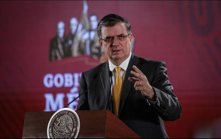 Ebrard sostuvo que toda la información referente a los acuerdos con EU fueron entregados al Senado de la República, incluso los documentos que se firmaron con el gobierno estadounidense. NTX / J. Espinosa