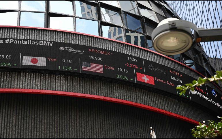 El S&P/BMV IPC se ubica en 43 mil 604.11 unidades. AFP / ARCHIVO