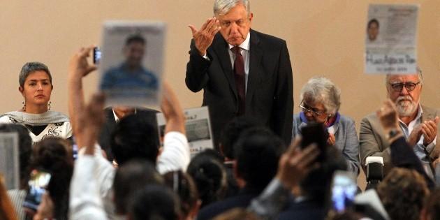 No me ocultaré ante el problema de los desaparecidos: López Obrador
