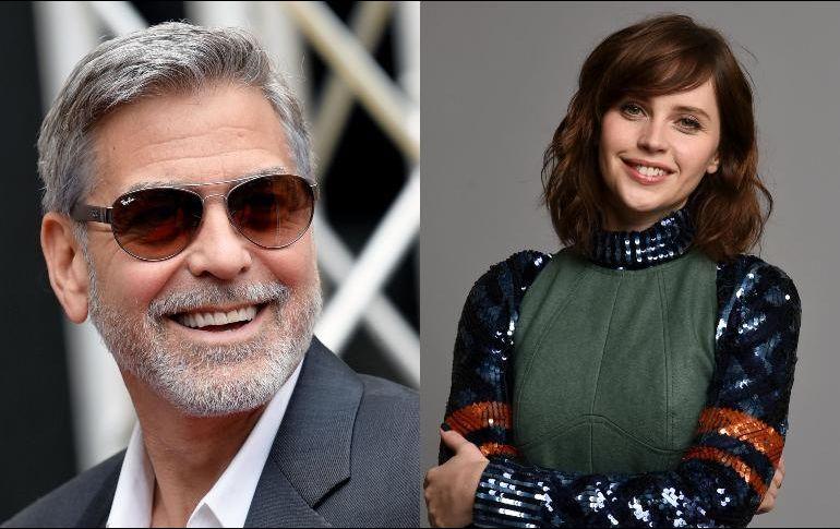 Картинки по запросу Felicity Jones George Clooney