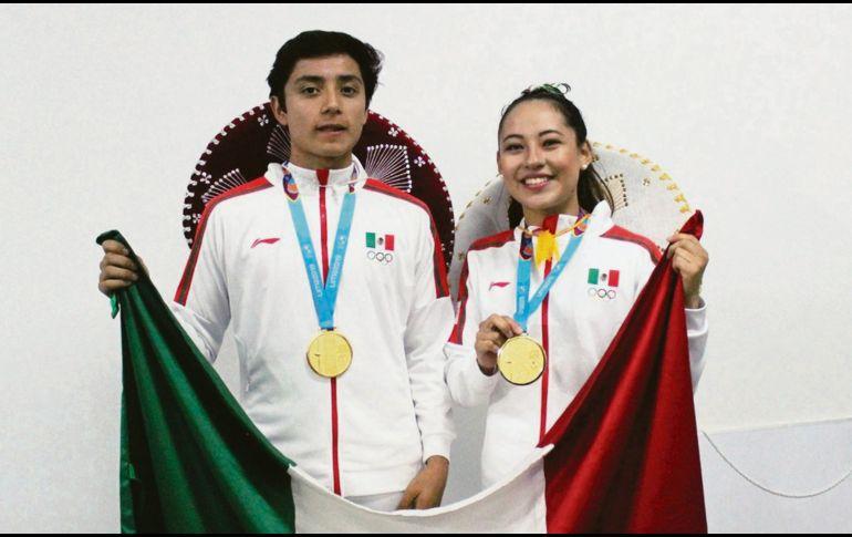 Leonardo Juárez, oro en mixtos. CONADE