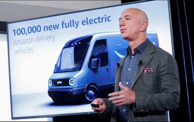 Jeff Bezos emarcó que el objetivo es que se sumen otras grandes corporaciones a la iniciativa para ampliar su impacto. AP/P. Martinez