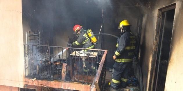 Incendio afecta finca en la colonia San Miguel de Huentitán