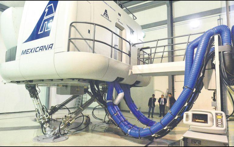 El simulador del Airbus A320 con que cuenta el CAT otorga 98% de sensación de vuelo, equivalente a pilotar un aeroplano. EL FINANCIERO/N. Tavira
