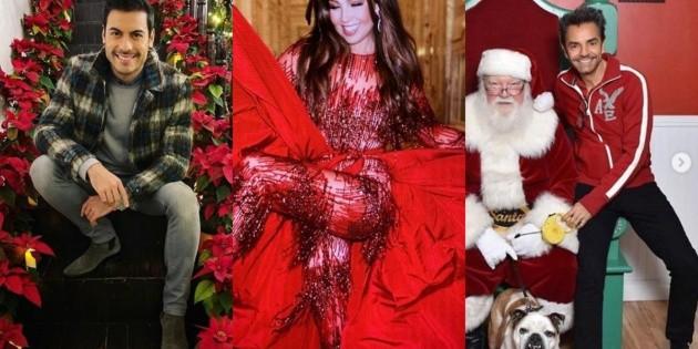 Así festejaron la Navidad las celebridades mexicanas