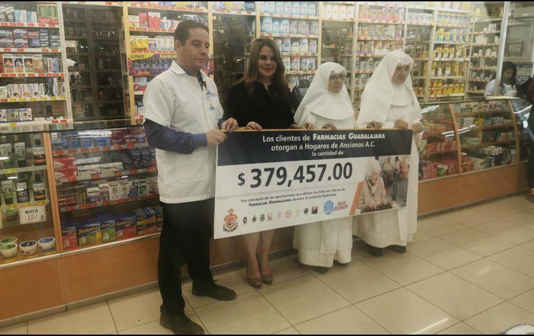 A lo largo del año, Farmacias Guadalajara realiza varias entregas de donativos a las asociaciones aprobadas por un comité especial. EL INFORMADOR/J. Castillo