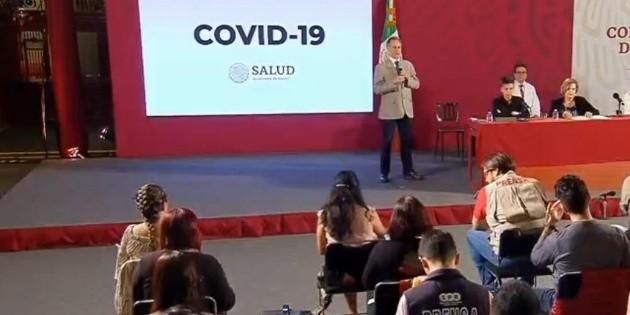 La Secretaría de Salud reporta 110 casos de COVID-19 en 24 horas