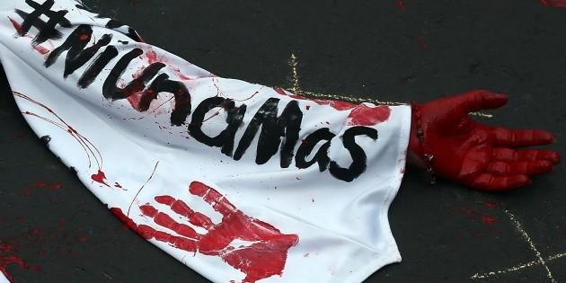 Reporteros de Veracruz protestan por el asesinato de María Elena Ferral