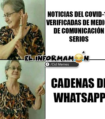 Noticias vs Cadenas de WhatsApp