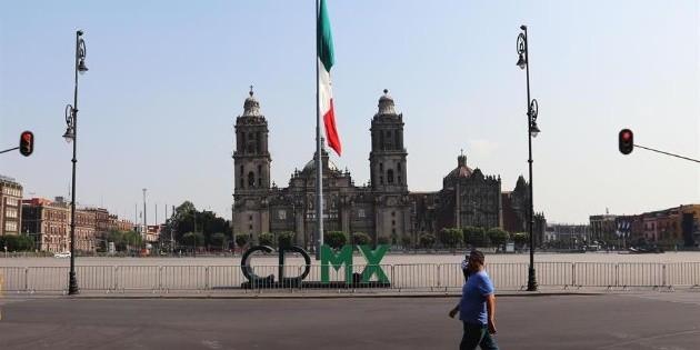 El Centro de la Ciudad de México luce desértico por el coronavirus