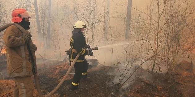 Apagan incendio en zona de Chernóbil